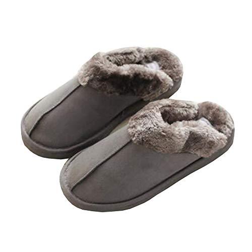 Hualq s1561 scarpe uomo inverno paio casa fatti a mano in cotone scarpe spesse pantofole calde invernali