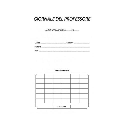 Registro del professore per 6 classi utile per tutte le scuole 31x17