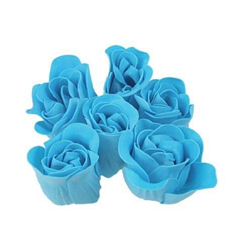 Türkis-Blau-Rose Design Baden duftende Seife Blütenblatt 6PCS -