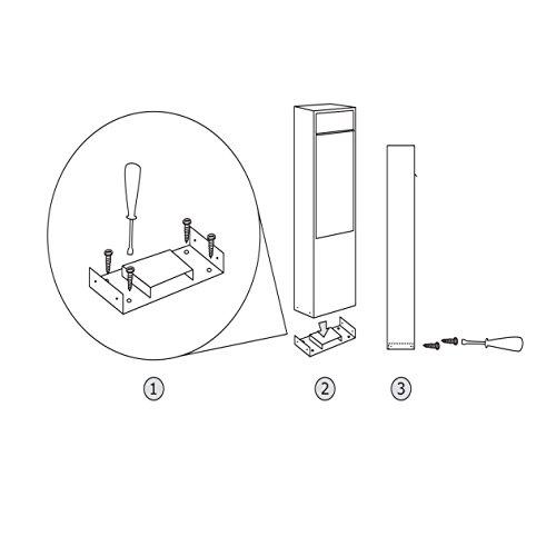 Briefkastenanlage, Design Briefkasten Big Box for Two Schwarz/Edelstahl – Bravios - 5
