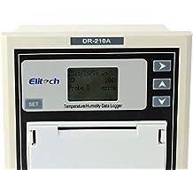 Therm Temperatura y Humedad Registrador de datos con mini impresora dr-210a camiones registrador de datos grabador