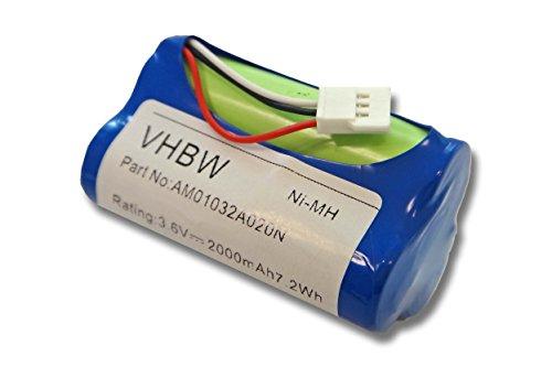 vhbw Akku passend für Logitech S315, S315i, S715, S715i, Z515 Lautsprecher Docking Station wie 180AAHC3TMX (NiMH, 2000mAh, 3.6V) Ersatzakku, Batterie Portable Ipod-docking-stationen