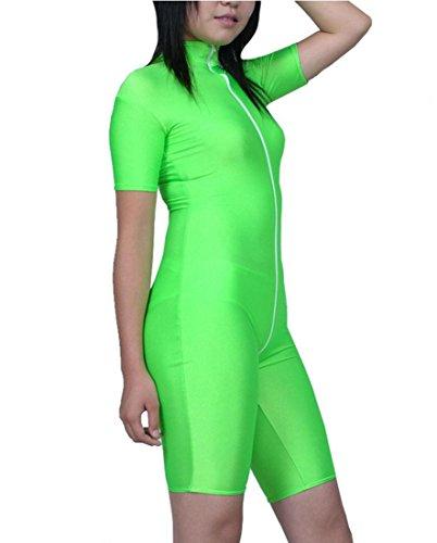 DuuoZy Frauen Sexy Apfelgrün Lycra Body Lingerie Overalls Boyleg , green , (Muster Jazz Tanz Kostüm)