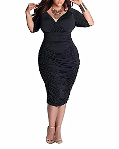 BIUBIU Women's Dress Uk 20 Black
