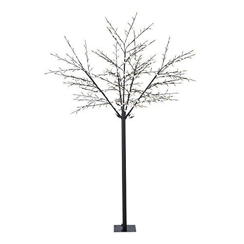 Blumfeldt shineberry ww 250 albero luminoso decorativo lampada bacche (600 led, forma variabile a piacere grazie ai rami pieghevoli) - bianco caldo