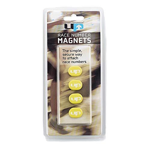 Ultimate Performance Race Number Magnets Imanes Porta Dorsal, Unisex Adulto, Amarillo, Talla única