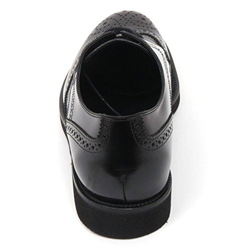 B9768 scarpa inglese uomo TOD'S scarpa allacciato bucature gomma nero shoe men Nero