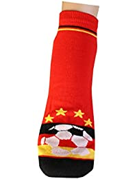 Weri Spezials Femmes et Hommes ABS Football Chaussettes Pantoufle Chaussons Antiderapants Noir/Rouge/Or