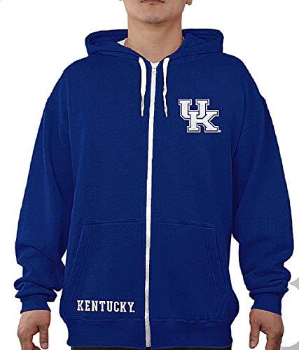 E5 NCAA Audible Herren Kapuzenpullover mit durchgehendem Reißverschluss, Herren, Kentucky Wildcats, Large