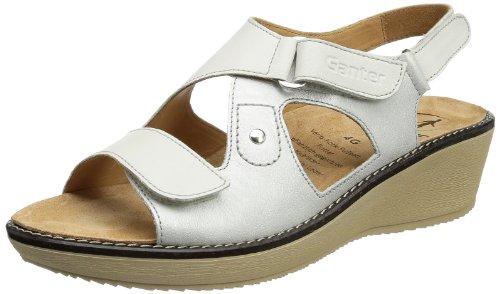 Ganter Gracia, Weite G 5-209249-02040, Sandali donna Bianco (Weiß (weiss/offwhite 0204))