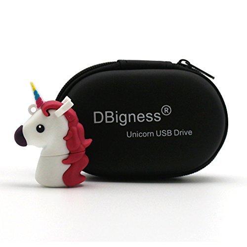 DBigness Niedliche Einhorn Pferd PVC 32GB USB 2.0 Flash Funny Geschenk Cartoon USB Memory Stick Weiß
