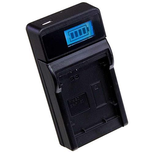 LUMOS Akku Ladegerät passt zu Sony Alpha 5000 5100 6000 6300 6400 6500 7 RX10 NEX - geeignet für NP-FW50 - LCD Display 6400 Lcd
