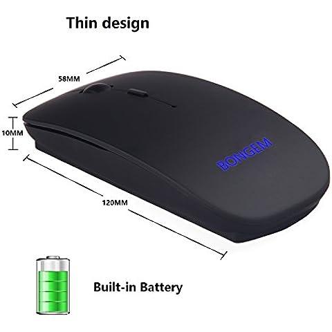 bongem® Ultra sottile 2.4Ghz Wireless Batteria 800mAh ricaricabile integrata per