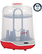 LuvLap Delight Electric Steam Sterilizer with LED Display for 6 Feeding Bottles, BPA Free