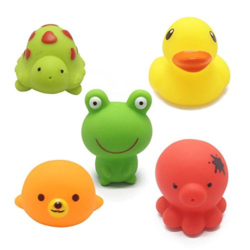 bath-toys-chickwin-5pcs-animals-baby-bathing-soft-rubber-toys-kids-bath-play-water-pool-tub-sounding