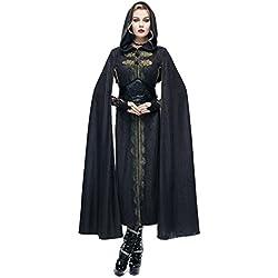 Halloween/traje/para las mujeres/plus size/falda sexy/fiesta/ disfraz de vampiro / curandero-negro un tama?o
