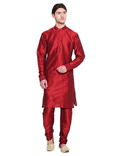 Bollywood Diseñador Para Hombre Kurta pijama conjunto rojo indio étnico Partido desgaste para hombres
