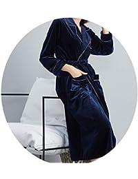 Sleepsuits Albornoces Largos De Las Señoras De La Primavera Y del Otoño De Las Mujeres, Pijamas Rojos De La Boda del Terciopelo del Oro,…