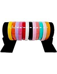 Evogirl Hair Band Combo Of Rainbow Colors,XL, For Volume, Curly Hair, Hair Band, School Time , Dailyuse, Head...