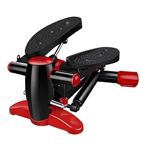FXnn Stepper-Home-Mute-Twist-Pedal-Fitnessgeräte Fitness- / Assistenzsportausrüstung (Farbe : Black+Red)