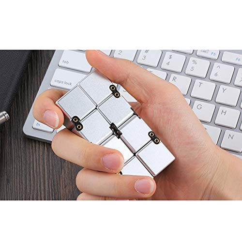 VIWIV Funxim Infinity Cube, Unendlicher Würfel Spielzeug, Magic Flip Dekompression Cube Stress Spielzeug Für Langeweile, Angst - Infinite Zappeln Mit Geschenkbox, Cool Kinder,White