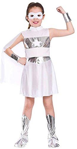 Girls White Super Hero Fancy Dress Party Costume Halloween Child - Dress Halloween Ideen Fancy Mädchen