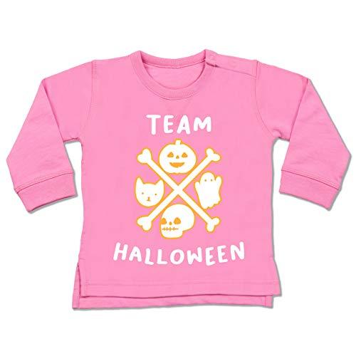 Shirtracer Anlässe Baby - Team Halloween - 6-12 Monate - Pink - BZ31 - Baby Pullover