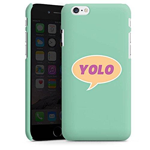 Apple iPhone X Silikon Hülle Case Schutzhülle YOLO Sprechblase Statement Premium Case matt