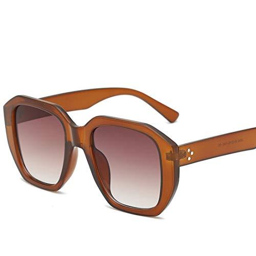 Shiduoli Retro Rahmen farbige Linse übergroße runde Sonnenbrille für das Laufen, das Fischen-Golf fährt (Color : C)