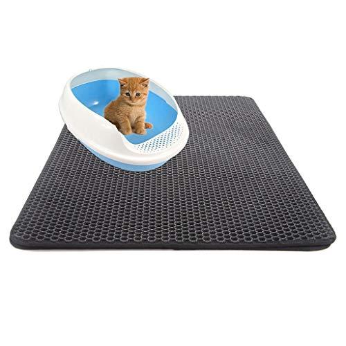 Katzenstreu, doppelschichtig, wasserfest, rutschfest, für den Boden, Wabenmuster, EVA-Schaumstoff, in 4 Größen erhältlich -