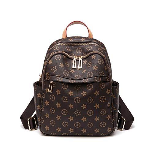 Weiche Leder Bedruckte Umhängetasche weibliche Reisetasche einfache große Kapazität Rucksack