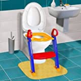 #5: Stvin Toilet Potty Trainer Seat Chair Kids Toddler With Ladder Step Up Training Stool