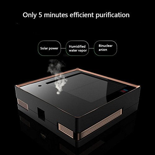 CHENGQI Car Home Air Purifier Solar Humidifier Releases Negative Ions – Can Be Used In Cars And Small Rooms,Black