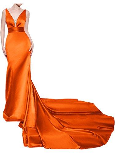 Missdressy - Robe - Dos nu - Femme Orange