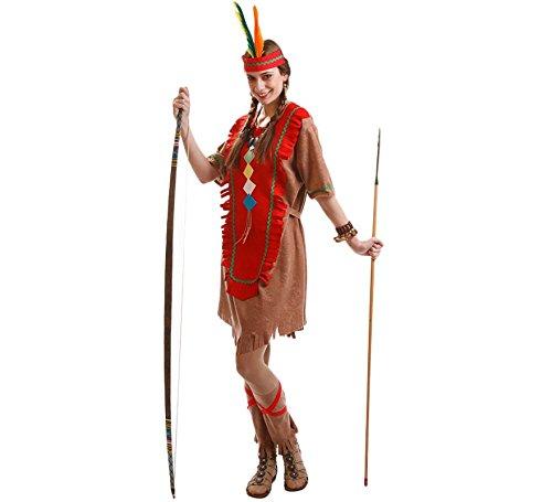 Disfraz para mujer de India marrón