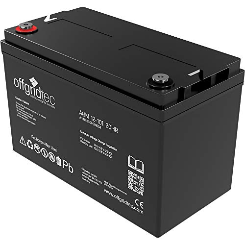 Offgridtec AGM Solar Batterie für zyklische Anwendungen, 101 Ah / 12 V, 001004