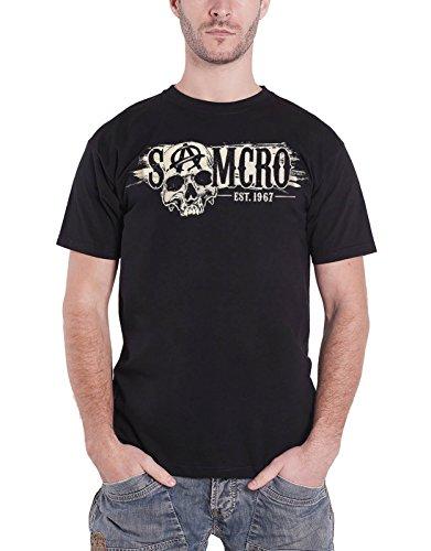 Sons of Anarchy T Shirt Samcro Skull Est 1967 Logo offiziell Herren Nue