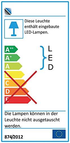 Highboard in Buche hell Nb. mit LED-Beleuchtung, 2 Türen mit Glaseinsatz, 3 Schubkästen, 1 offenes Fach, 6 Einlegeböden, Maße: B/H/T ca. 180/138/43 cm - 3