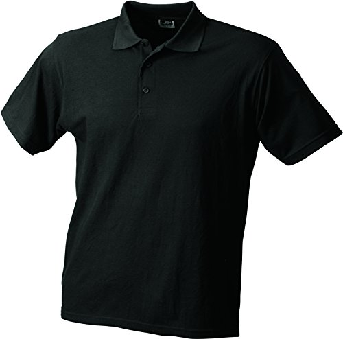 James & Nicholson Herren Poloshirt Worker Polo Schwarz (Black)