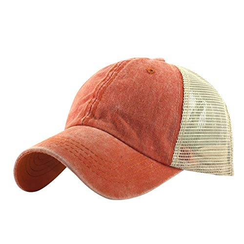 Sunneey Basecap Cap für Damen Herren Sonnenschutz Cap aus Baumwolle Baumwollcap größenverstellbar Baseballcap Sommer