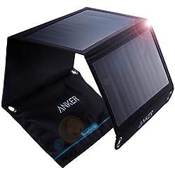 Anker PowerPort Chargeur Solaire 21W 2ports, Chargeur solaire USB pour iPhone 7/7S/6s/6, iPad Air 2/mini 3, Galaxy S7/S6/S6Edge et tablette, appareil photo, etc.