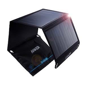 Anker PowerPort Solar Ladegerät 21W 2-Port, USB Solarladegerät für iPhone 7 / 7s / 6s / 6, iPad Air 2 / mini 3, Galaxy S7 / S6 / S6 Edge und Tablet, Kamera usw.