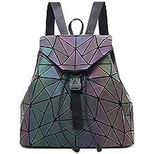 5abecbbe5f4fd Frauen Geometrisch Leuchtend Rucksack und Handtasche Damen Fashion  Schultertasche Lingge Flash Travel Rucksack