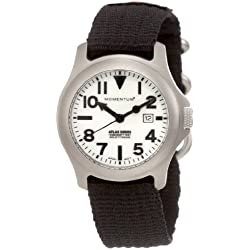 Momentum Ladies 1M-SP01W8B Atlas White Dial Re-Ply Nylon Strap Watch