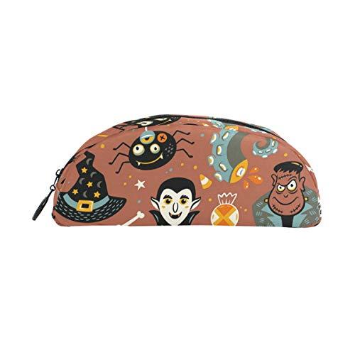 (Bonipe Federmäppchen, Halloween-Hintergrund, Kürbis-Geister-Eule, Stifteetui, Geldbörse, Kosmetik, Make-up für Büro)