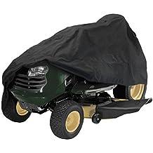 Alamor 54inch tractor cubierta jardín patio montar cortacésped tractor de césped cubierta protección negro