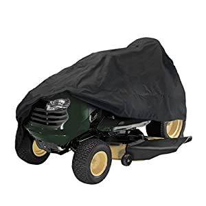 C-FUNN 54inch Tractor Cover Garden Yard Riding Mower Lawn Tractor Cover Protection Black