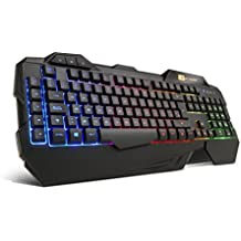 BG R-Force - Teclado (USB, QWERTY, alámbrico), color negro