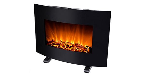 Silva Schneider Homeline FP-H 100 Chemin/ée /électrique 900 et 1800 W Effet flamme LED Fa/çade en verre T/él/écommande