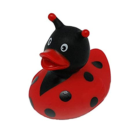 Lilalu 8 x 8 cm/50 g Collector and Baby Ladybug Rubber Duck Bath Toy